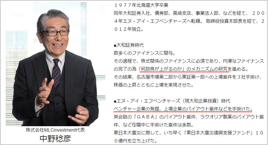 AIP投資顧問 代表「中野稔彦」