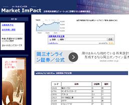 マーケットインパクト(Market ImPact)