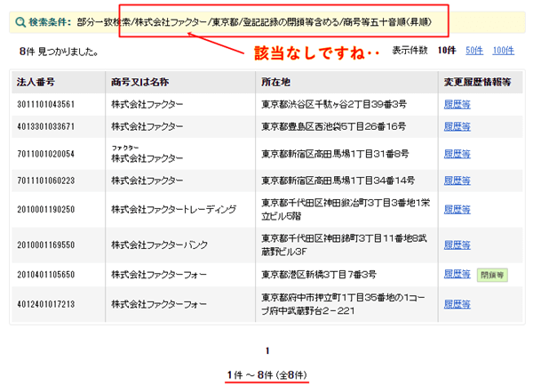 株式会社ファクターの登記情報
