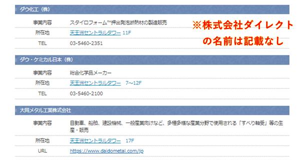 天王洲セントラルタワーの企業情報(た行)